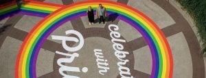 Pride rainbow in Burnaby