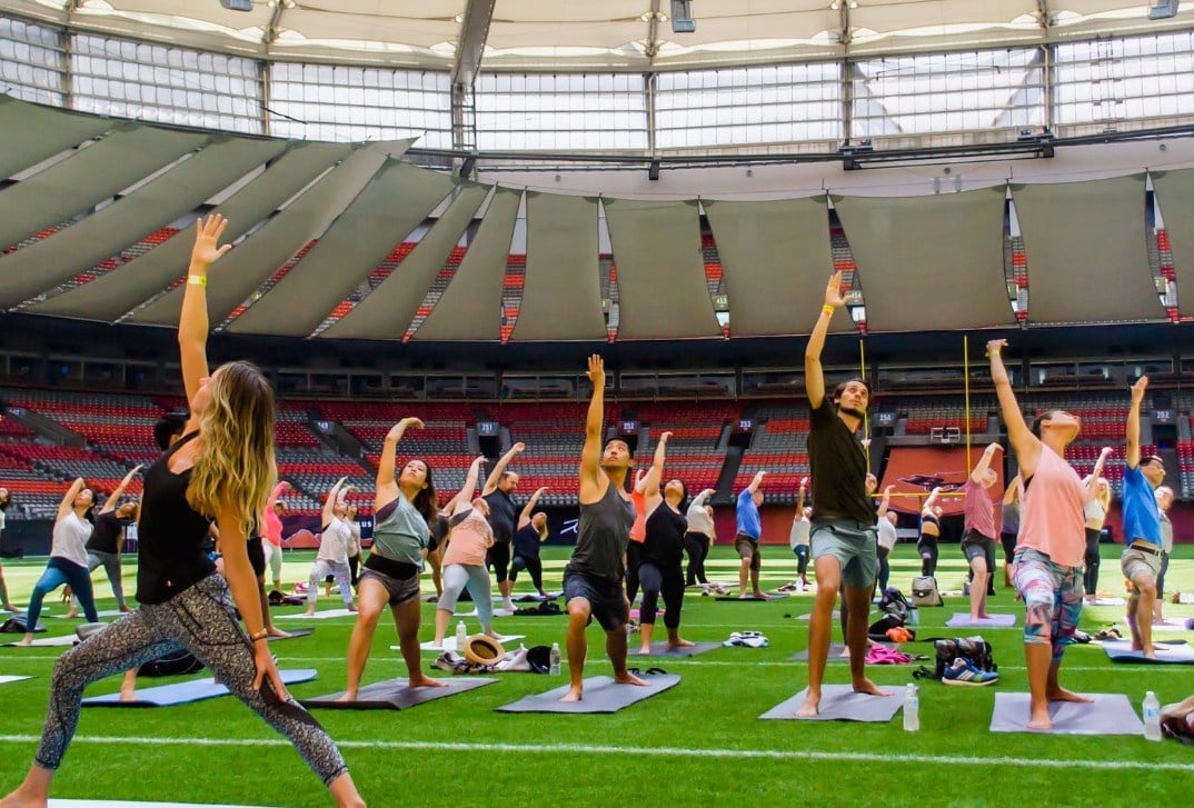 Yoga on the Field