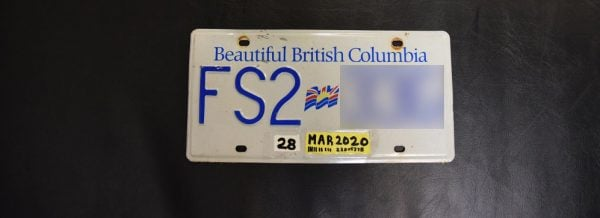 Forged License Plate Sticker