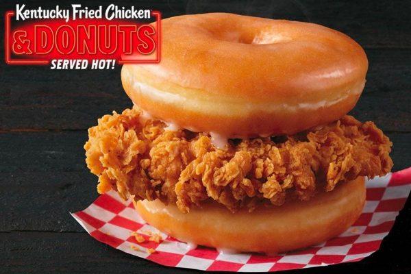 KFC Donut Chicken Sandwich