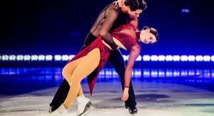 Now retired Tessa Virtue Scott Moir attended the Vancouver skating championship in 2018