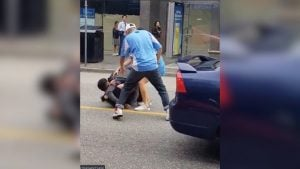 road rage street fight in Vancouver