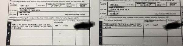 Two Speeding Tickets