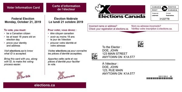 voters info card