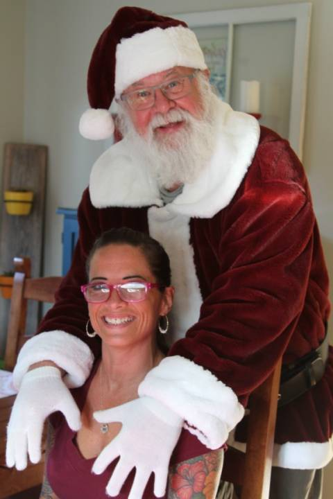 Bad Santa inappropriate photo