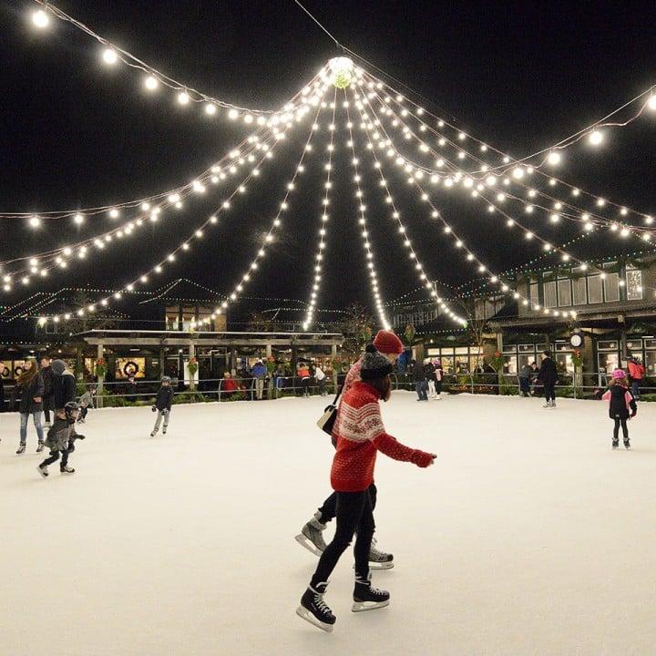 Butchart Gardens Christmas Outdoor Skating Rink