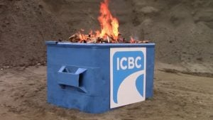 Canadian Taxpayers Federation ICBC Dumpster Fire Video