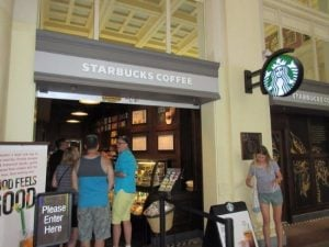 First International Starbucks Waterfront Station Vancouver