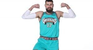 Memphis Grizzlies Retro Vancouver Jerseys - Jonas Valancunias