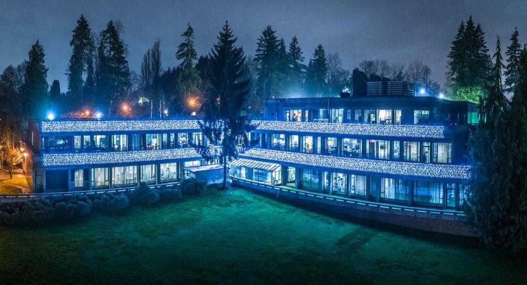 Burnaby Christmas Light Displays - RCMP Building