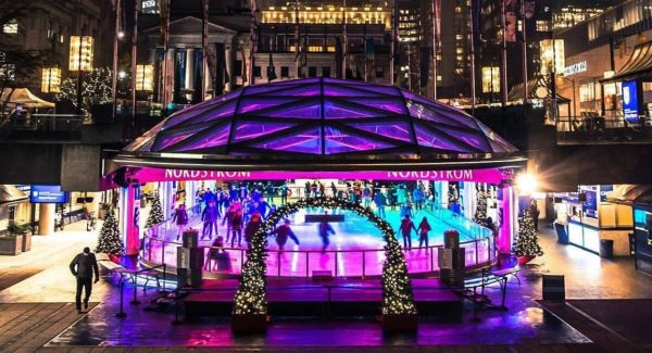 Robson Square Ice Rink Skating