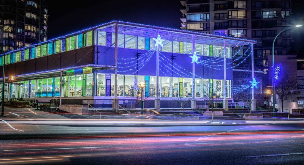 Burnaby Christmas Light Displays - Tommy Douglas Library