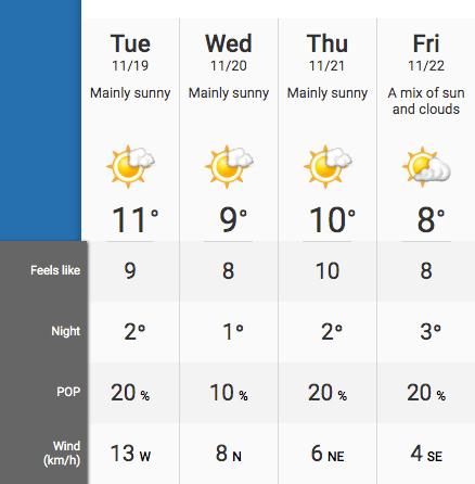 Week weather