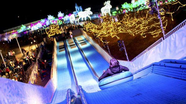 Tube Slide at Aurora Winter Festival