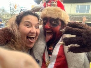 Not To Disappoint, Man Attends Santa Parade Dressed As Satan, Following Typo