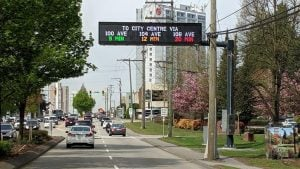 Surrey real-time information signs