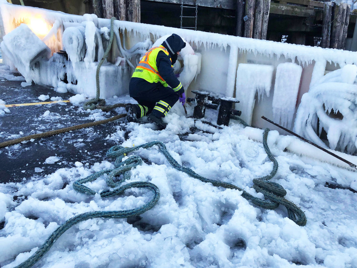 BC Ferry Ice-Covered Out of Service