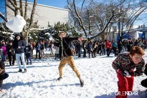 Snow Ball fight UBC