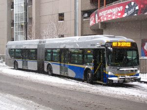 Translink snow tire on bus