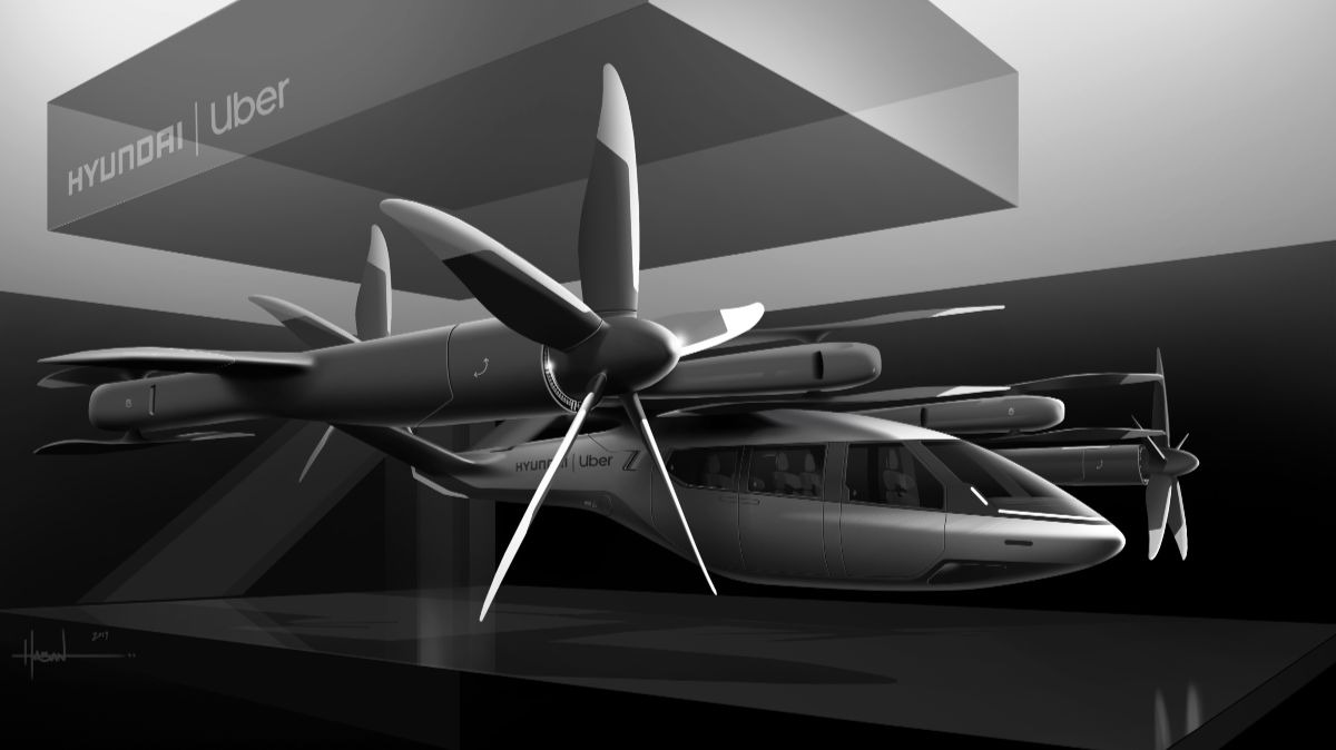 Uber Hyundai Flying Ride-Share Taxi CES 2020