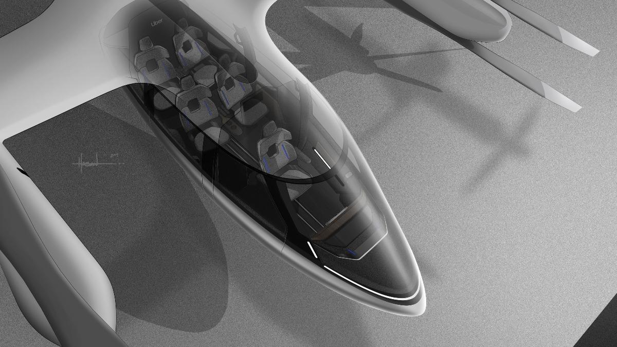 Uber Hyundai Flying Ride-Share Taxi