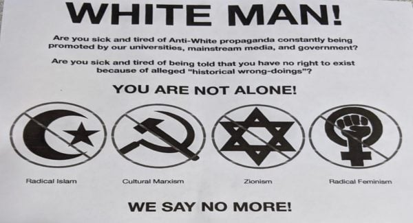 White Supremacy Flyer
