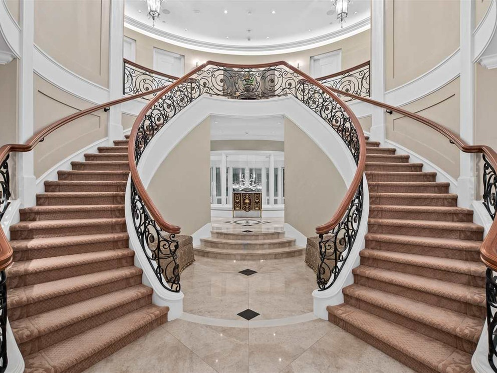 the Belmont's staircase