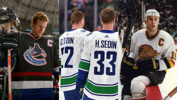 Vancouver Canucks Sedin Week Jersey Retirement Ceremony