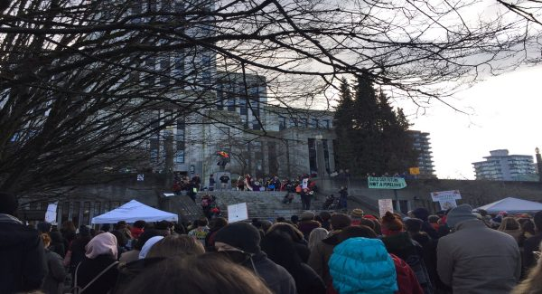 Vancouver protest pipeline