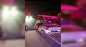Drunk driver in a golf cart