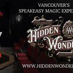 Hidden Wonders Speakeasy Magic Experience 2020