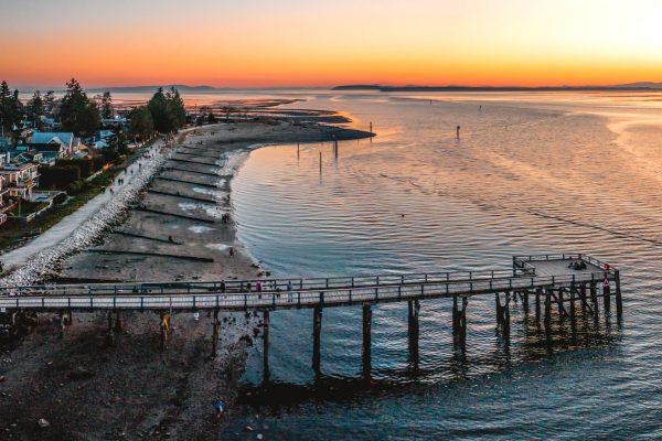 crescent beach Surrey - sunset in metro vancouver