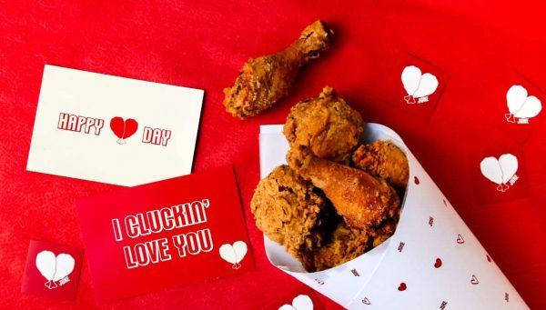 Juke fried chicken bouquet Valentine's Day