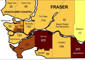 COVID-19 hot spots in B.C.