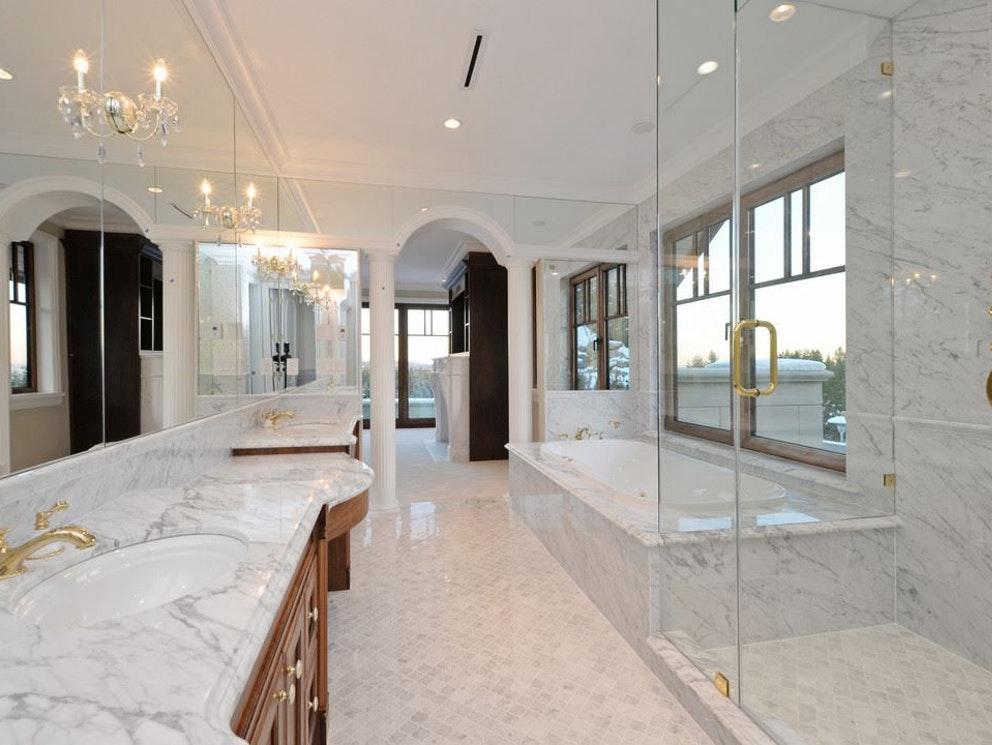 west vancouver mansion bathroom