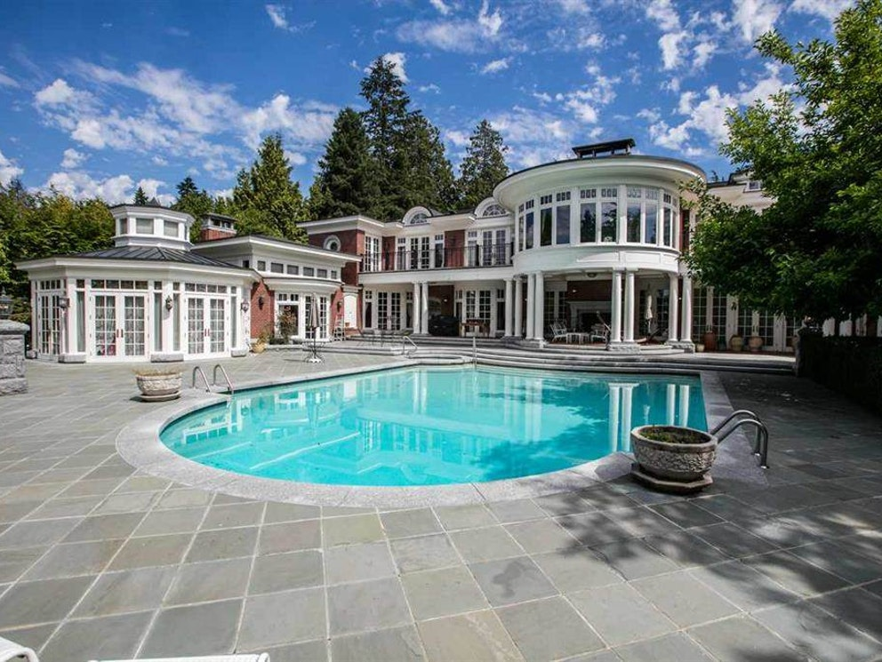 burnaby mansion with pool