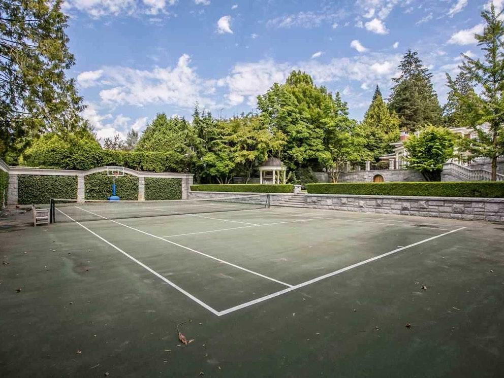 tennis court burnaby mansion
