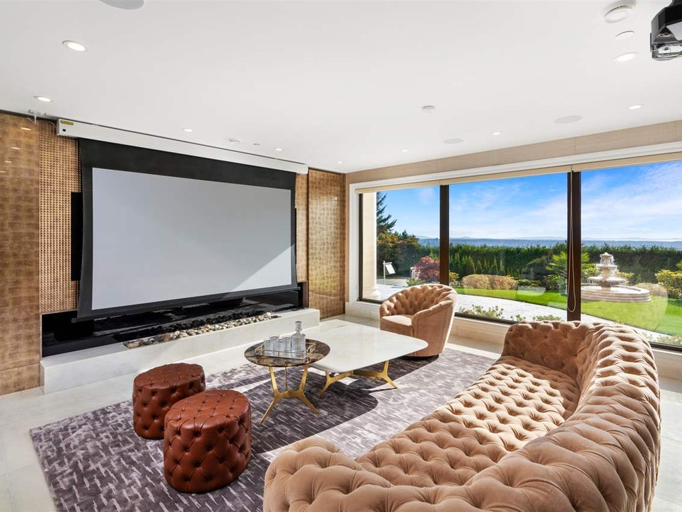 west vancouver mansion theatre room