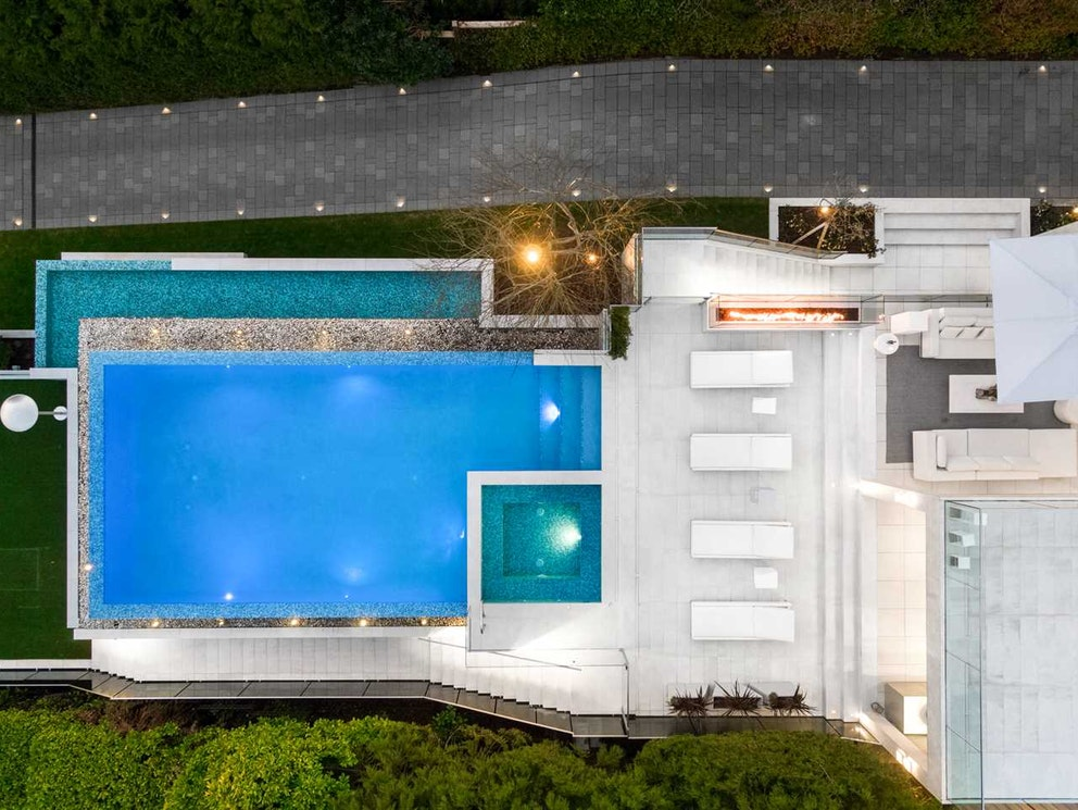 top view west vancouver mansion