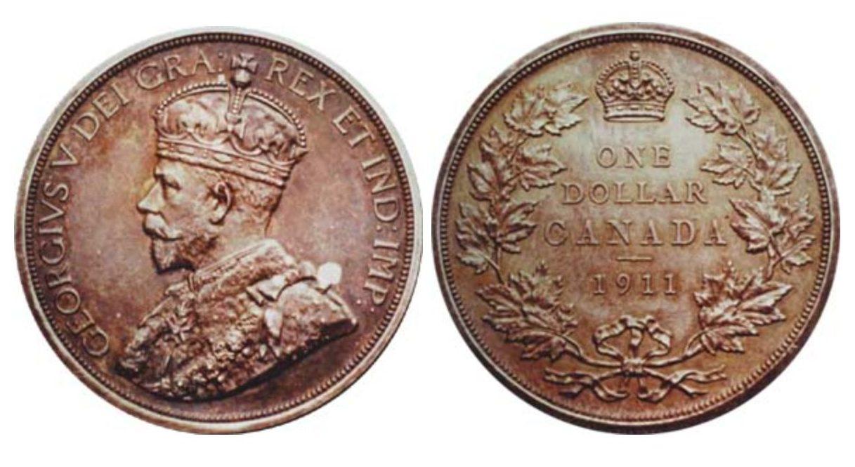 1911 canadian silver dollar