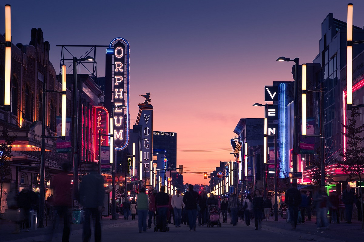granville street downtown vancouver