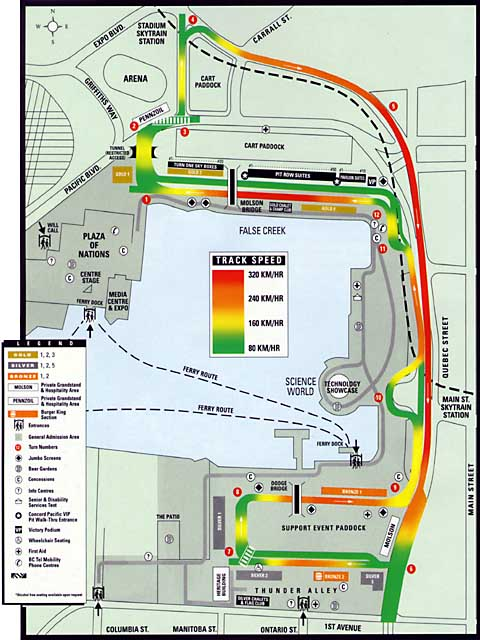 Race course of the Molson Indy
