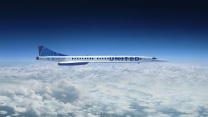 united airlines supersonic jet