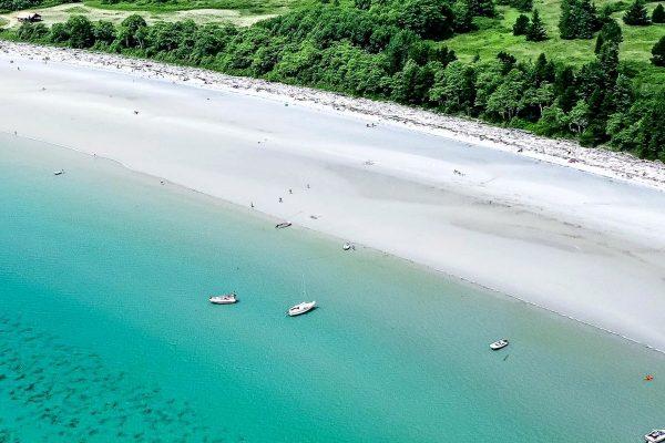 white sand beaches in bc