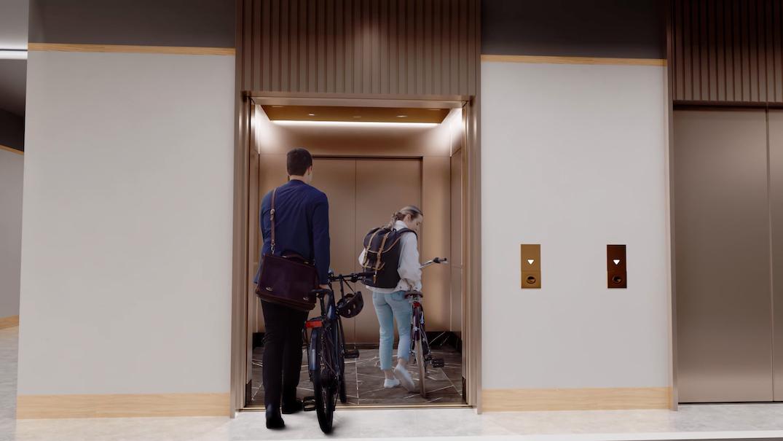 concord metrotown bike elevator