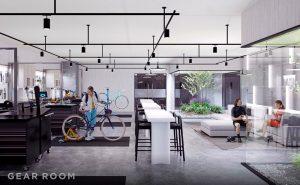 concord metrotown indoor bike lounge