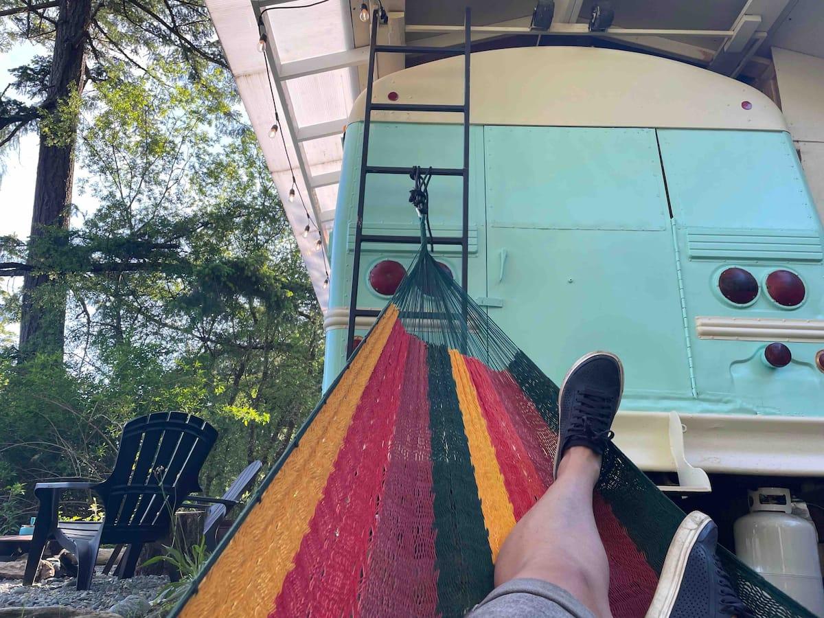 school bus airbnb in sooke