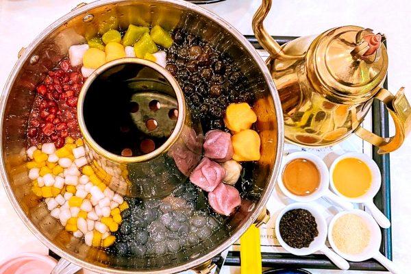 bubble tea hot pot dessert