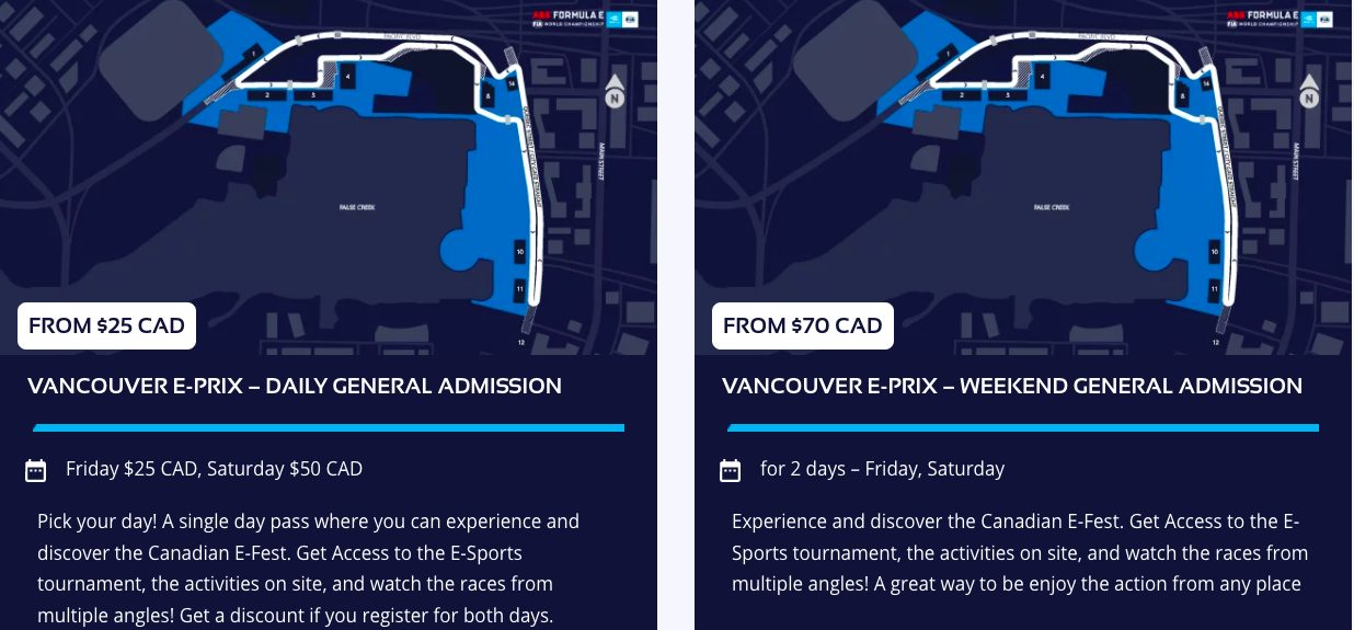 formula and vancouver tickets