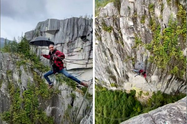 rope jumping in Squamish